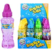16x 225ml Bubble Tubs With Solution And Wand - Kids Outdoor Party Bag Filler Summer Toy