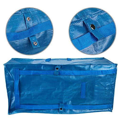 LUTER Unterbett Aufbewahrungstasche Groß Tragetasche Storage Bag Wäschetasche Einkaufstaschen mit Reißverschluss und Tragegriff für IKEA Fraktawagen/Bettdecken/Kissen/Wäsche/Kleidung/Einkauf (1 Stück)