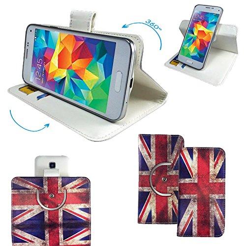 Acer Liquid Zest 3G Smartphone Tasche / Schutzhülle mit 360° Dreh und Standfunktion - 360 England Union Jack Nano M