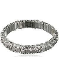Pilgrim Women    Silver Plated Round   Clear Crystal FASHIONNECKLACEBRACELETANKLET