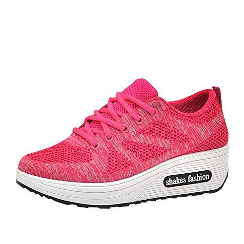 Schuhe, Resplend Atmungsaktive Sportschuhe Sneaker Mode Schnürschuhe Plateauschuhe Schaukelschuhe Rutschfest Laufschuhe Turnschuhe