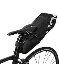 Roswheel 8L/10L Bolsa de sillín alforja para bicicleta Bicicletas Bolsa Bolsa para sillin de bici(Cinta reflectante material, Apertura plegable) (10L)