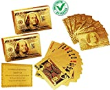 CARE CASE - Set of 2- Playing Cards Gold 24 K Gold Cards