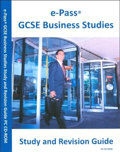 ePass® GCSE Business Studies Interactive Study and Revision Guide CD-ROM (Windows 2000 / XP / Vista / 7) Test