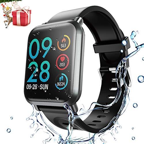 Fitness Tracker HR,Smartwatch mit Kalorienzähler,Schrittzähler, HopoFit HF02 Activity Tracker mit Herzfrequenz- und Schlafmonitor,IP68,SMS & Anruferinnerung,für Männer,Frauen,Kinder,iPhone und Android