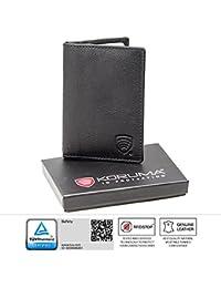 RFID / NFC blocage cuir véritable KORUMA portefeuille - Travel Pass / Titulaire de la carte sans contact