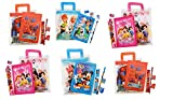 #8: Parteet Birthday Party Return Gifts Mix Stationery Kit Set in a Zipper Bag for Kids (Pack of 6)