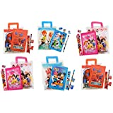 Parteet Birthday Party Return Gifts Mix Stationery Kit Set In A Zipper Bag For Kids (Pack Of 6)