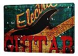 LEotiE SINCE 2004 Plaque en Métal Métallique Poster Mural tin Sign 40x30 cm Cuisine M.A. Allen Guitare électrique