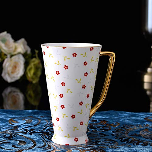 GGsmd Glaçure Blanche sur Bone Porcelain Tasse,Le Carthame
