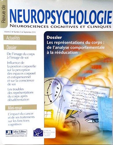 Revue de Neuropsychologie - Neurosciences cognitives et cliniques - Volume 2 - numro 3 - septembre 2010