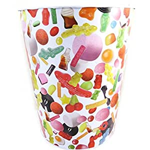 Haribo [L8136] - Poubelle métal 'Haribo' tutti frutti (bonbons en vrac)