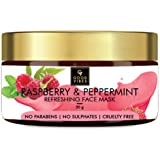 Good Vibes Raspberry and Peppermint Refreshing Face Mask - 50 g - Treats Inflammation, Brightens Complexion and Evens Skin To