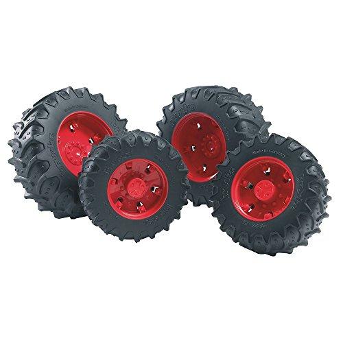 Bruder 03313 - Zubehör: Zwillingsbereifung mit roten Felgen, Premium-pro -