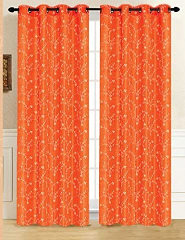 RT Designers Collection Tuscan Window Curtain Panel, 54 by 84-Inch, Orange by RT Designers Collection