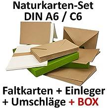 Kraftpapier Karten Inklusive Briefumschläge U0026 Einlegeblätter Mit  Geschenkschachtel! | 50er Set | Blanko