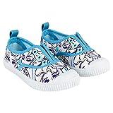 Zapatillas de Lona Niña Frozen Elsa Disney Sin Cordones, Blancos y Celestes (Tallas 24 a 31) (25 EU)