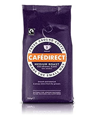 Cafédirect Fairtrade Medium Roast & Ground Coffee 750g by Suma WholeFoods