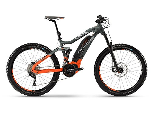 Haibike SDURO FullSeven LT 8.0 E-Bike 500Wh E-Mountainbike oliv/orange/silber matt