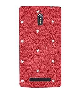 Red Color Diamond Pattern 3D Hard Polycarbonate Designer Back Case Cover for Oppo Find 7