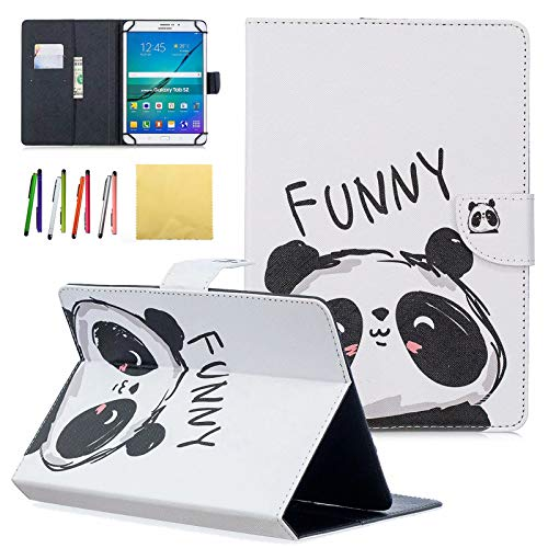 Dteck (TM) custodia universale per tablet Samsung Galaxy, Apple iPad, Amazon Kindle, Google Nexus and more 6.5 – 26,7 cm tablet 011 Funny Panda For 9.5-10.5 inch tablet