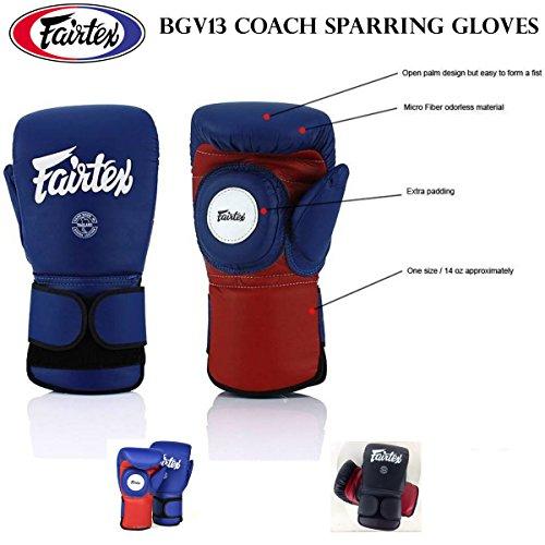 Fairtex bgv13azul/rojo color combinación guantes