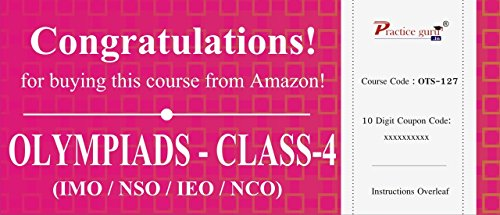 Topic Wise tests For Class 4 - Combo Pack (IMO / NSO / IEO / NCO)  available at amazon for Rs.604