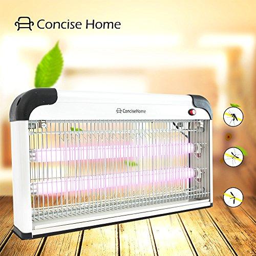 Ace Sea 30W Insektenvernichter Mückenschutz Insektensberelicht Elektrisch UV Lampe für Draußen Wirkungich Aufhängvorrichtung Ohne Chemie und Giftstoffe Auffangschale geruchsneutral Weiß