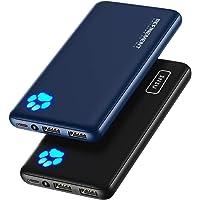 INIU Power Bank, [2 Pack] Am schlanksten & leichtesten USB C 10000mAh Externer Akku, DREI 3A-Ausgänge Handy Powerbank…
