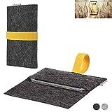 flat.design Handy Hülle Aveiro für Allview X4 Soul Infinity N passgenaue Filz Tasche Case Sleeve Made in Germany