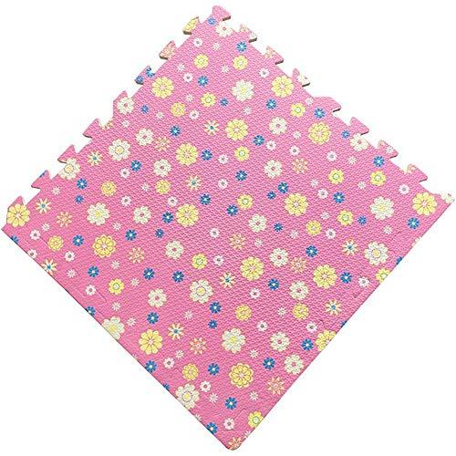 JIAJUAN-Puzzlematte Baby Farbmuster Ineinandergreifend Kinder Schaum Puzzle Matten rutschfest Weich Quadrat Fliesen Matte, 7 Farben (Color : F, Size : 60x60x1 cm-10 Pcs) (8 8 X Fliese Quadrat)