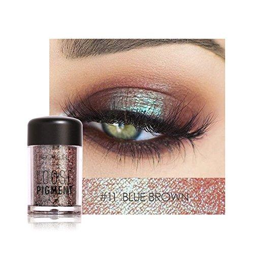 (Challeng Lidschatten-Palette, 12 Farben Auge Schatten Perle Metallisch Makeup Augenschatten Palette (K))