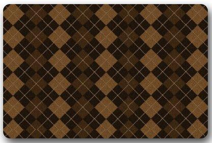 Argyle Golf Schuhe (fdghjdyjdty Fashionable Design Argyle Patterns Lattice Doormat,Indoor/Outdoor Floor Mat 15.7x23.6)