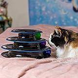 Unglaubliches Katzen Rollen-Spielzeug - Katzenspielzeug viel Spaß auf 3 Ebenen - Interaktives Katzenspielzeug zum Spielen und Lernen für Katzen - das beste Kätzchen Spielzeug - 9