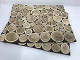 Flippi Tischset Platzset Holz Shabby Natur 38 x 30 cm jedes EIN Unikat 2 er Set