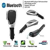 Asiproper BT-X5A Bluetooth-Freisprechanlage fürs Auto, FM-Transmitter und USB-Ladegerät, MP3-Player