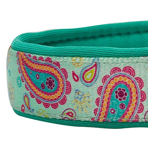 Blueberry Pet 1,5cm S Paisley-Druck Inspiriertes Ultimatives Hell-Smaragdgrün Neopren-Gepolsterte Hundehalsband, Kleine Halsbӓnder für Hunde - 5