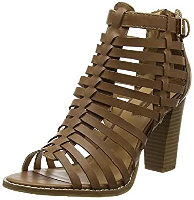 dorothy perkins damen gladiator high heel sandalen mit absatz braun braun 41 eu 7 uk. Black Bedroom Furniture Sets. Home Design Ideas