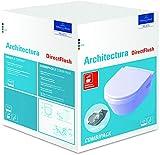 Villeroy & Boch Architectura Combi-Pack WC con lavabo DirectFlush (Bordo Aperto) incl. Sedile WC con Funzione SoftClosing, Bianco Alpine, colorazione: Bianco Ceramicaplus - 5684HRR1