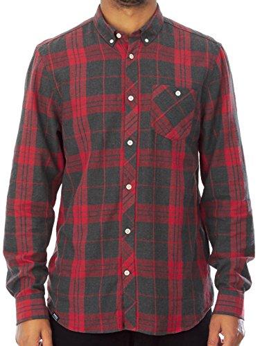 Camicia A Maniche Lunghe Wesc Ole Grigio Melange (M , Rosso)