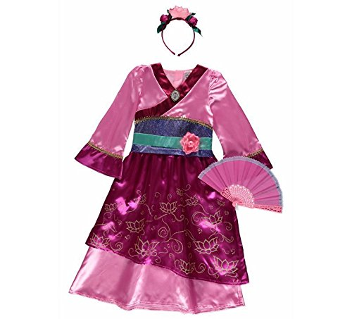 ssin Mulan Fancy Dress Outfit Buch Tag Kostüm 3-4 (Mulan Kinder Kostüme)