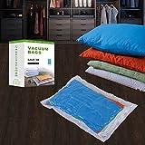 Vakuumbeutel für Reisen - Vakuum Aufbewahrungsbeutel - 8(4*Extragroß + 4*Groß) Vakuum Kleiderbeutel Platzsparer -Kompressionsbeutel zur Aufbewahrung von Kleidung , Bettdecken , Reise, Bettwäsche, Kissen, Vorhänge