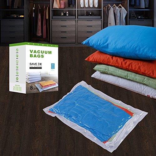 Vakuumbeutel für Reisen - Vakuum Aufbewahrungsbeutel - 8(2*Jumbo + 4*Extragroß + 2*Klein) Vakuum Kleiderbeutel Platzsparer -Kompressionsbeutel zur Aufbewahrung von Kleidung , Bettdecken , Reise, Bettwäsche, Kissen, Vorhänge