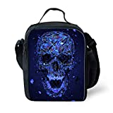 Best Thermos Lunch Boxes For Boys - Nopersonality Punk Skull Lunchbox Pack Lunch Bags Review