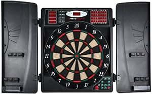 UItrasport elektronisches Dartboard mit Türen, Classic Dart für 16 Spieler, Dartspiel mit LED-Anzeige, 38 Spielen und vielen Varianten / Dartscheibe inklusive 12 Softpfeile und verschließbaren Türen