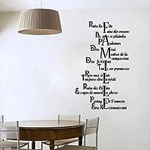 Topker Wall Stickers Decoración para el hogar La vida es demasiado corta para usar aburrido ropa Wallpaper Decal Mural Wall Art