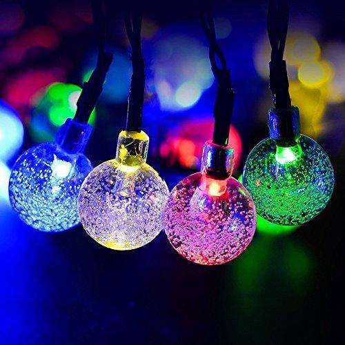 Kristallkugel-Schnur-Lichter, 6M 40 LED batteriebetriebene Schnurlicht Stern-Schnur-Lichter für Chrismas/Party/Hochzeit/neues Jahr/Tabellen-Dekorationen, Garten-Dekor für Innen-/im Freien