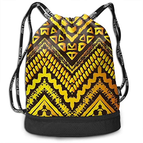 MSGDF Hand Drawn Painted Ethnic Pattern Picnic Drawstring Bag Backpack Bundle Backpack 20 Hand Painted Muslin