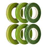 HAKACC Tape Stem Wrap Green Tape For Bouquet Flowers, Pack of 6Convenience:  The material of the tape is very special like the paper, that means we can tear this tape without any cutting tool easily, but it still stretchable and has strong vi...
