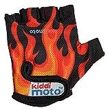 Kiddimoto GLV021M - Sport und Fahrrad Handschuhe für Kinder Design, flammen,Größe :M(ab 5 Jahre)